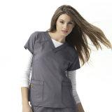 여자의 뻗기 발랄한 V 목은 제거한다 짧은 소매 간호원 제복 (A612)를