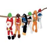 주문 크리스마스 훈장 장난감 견면 벨벳 꼬마요정 장난감