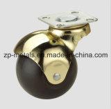 rueda del echador de la bola del eslabón giratorio de 1.5inch Rubber/PVC