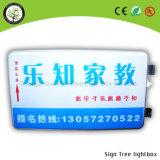 Acrilico esterno personalizzato LED Lightbox termoformato rotondo