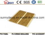 플라스틱 벽 및 천장, Cielo Raso De PVC를 위한 나무로 되는 색깔 PVC 박판 위원회