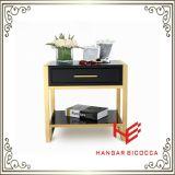 Tabela moderna do lado da tabela de chá da tabela de console da mesa de centro da tabela da mobília da mobília do hotel da mobília da HOME do aço inoxidável da mobília do carrinho da base (RS161601)