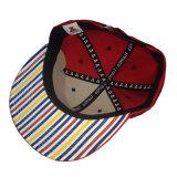 Tampão do Snapback do algodão da cor vermelha com bordado da cópia