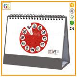 Изготовленный на заказ печатание календара стола спирального изгиба 2017
