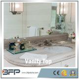 Tapa superior de mármol de piedra natural de la vanidad de Couter de la venta caliente para el cuarto de baño