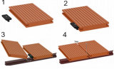 Decking solide imperméable à l'eau de WPC WPC/Decking composé en plastique en bois