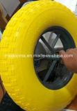 Roda de espuma de PU com 350 a 400 livres com borda de plástico