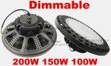 O preço claro do fornecedor de Highbay 5 anos de watt IP65 da garantia 200 Waterproof o diodo emissor de luz elevado 200W do louro de Dimmable