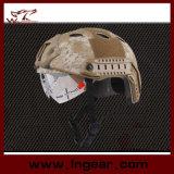 Casco militar del Pj del combate táctico del casco de seguridad con el visera claro
