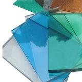 Folha plástica transparente UV para a tampa do telhado do balcão