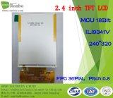 """2.4 """" visualizzazione dell'affissione a cristalli liquidi del ODM TFT di 240*320 MCU 18bit 36pin"""