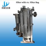 単一袋のステンレス鋼液体フィルターハウジング