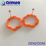 Orange Blumen-Silikon briet Ei-Form für die Herstellung der Ei-Muffins