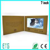 Cartão video do LCD TFT do Natal para o presente