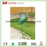 Figurine décorative de flamant en métal de best-seller avec l'effet détaillé de fourrure pour la décoration de jardin