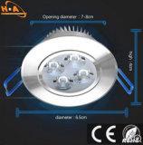 3W de ahorro de energía de aluminio Downlight para la etapa
