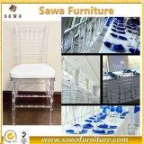 フォーシャンの工場透過明確な結婚式の樹脂のアクリルのChiavariの椅子