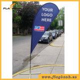 Bandierina della piuma della vetroresina di promozione di evento/bandiera portatili bandierina di volo
