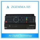 High-Tech Hevc / H. 265 DVB-S2 + T2 / C Sintonizadores duplos Zgemma H5 Linux OS Enigma2 Satellite Receiver