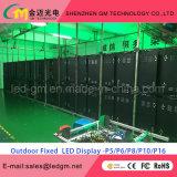 중국 옥외 발광 다이오드 표시 P10에 의하여 주문을 받아서 만들어지는 크기 10mm LED 영상 게시판 또는 스크린
