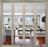 Большая дверь складчатости зоны отверстия звукоизоляционная алюминиевая двойная стеклянная