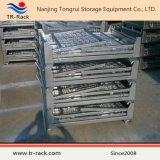 Jaula de malla de alambre resistente plegable y apilable para almacenamiento en almacén