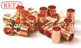 Encaixe de cobre usado da tubulação de água