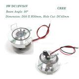 3 watts de DEL de plafonnier éclairage du CREE de mini DEL