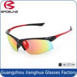 Bon cycliste multicolore des prix de 2016 de modèle de Guangdong anti verres de sûreté UV400 conduisant les lunettes de volleyball en verre de Sun Nice