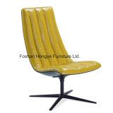 Couro da mobília européia do lazer/cadeira Elevados-Para trás lazer da tela