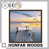 Frame de retrato de madeira inacabado da simplicidade para a decoração Home