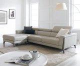 Sofá de couro novo e sofá pequeno da sala de visitas do apartamento