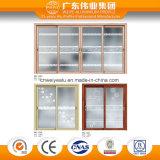 Puerta deslizante de aluminio interior para el balcón