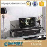 Moderne Edelstahl-Unterseiten-Marmor-Oberseite Fernsehapparat-Standplatz-Möbel