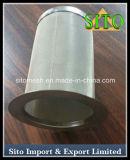穴があいたステンレス鋼の金網シリンダーフィルター