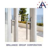 L'aluminium de double vitrage personnalisent la porte coulissante/porte en verre