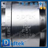 Vávula de bola a dos caras anti estupenda de flotación del acero inoxidable de la corrosión F51 de Didtek