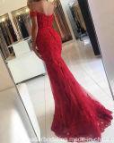 с мати шнурка мантий выпускного вечера партии плеча красной платья вечера E02
