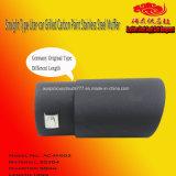 Tipo diritto di modello silenziatore cotto Litro-Automobile di no. AC-M-002 dell'acciaio inossidabile della vernice del carbonio