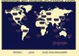 De hete LEIDENE van de Tijd van de Wereld van het Ontwerp klok Hunging op de Muur