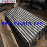 Hojas de acero acanaladas del material para techos