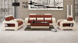 Sofa blanc du cuir 1+2+3 de l'Italie pour l'usage de Chambre (HC5080)