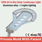 新しいモデルのセリウムのRoHSの太陽街灯LED 25W 6m