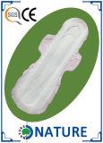 guardanapo sanitário do algodão do protetor da ligação 3D com asas dobro