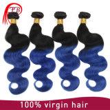 Pacotes Peerless da onda do corpo do cabelo da cor 1b/Blue Ombre