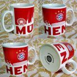 Taza de café barato de cerámica del color de rosa caliente del diseño del OEM