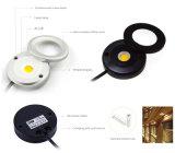3 Watt PFEILER Dimmable LED Deckenleuchte der Schrank-Beleuchtung-80ra 280lm LED