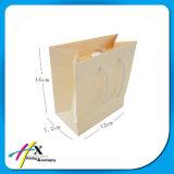 Saco de compra branco feito sob encomenda do papel de embalagem