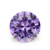 Wuzhouの工場円形の紫色の立方ジルコニアの宝石用原石