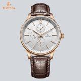 Horloge van Mens van de Chronograaf van de luxe het Zwitserse op het Polshorloge van het Roestvrij staal van de Verkoop voor Mensen 72848